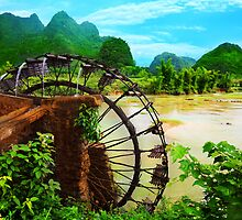 Bamboo water wheel by MotHaiBaPhoto Dmitry & Olga