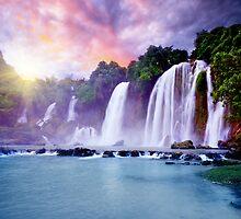 Banyue waterfall by MotHaiBaPhoto Dmitry & Olga