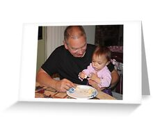 This is yummy birthday cake grandpa...... Greeting Card