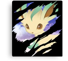 pokemon eevee leafeon anime manga shirt Canvas Print