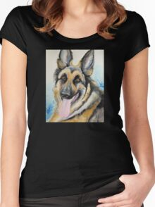 Max the GSD Women's Fitted Scoop T-Shirt