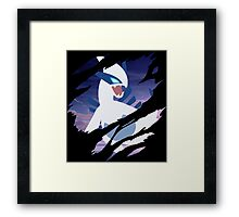 pokemon lugia anime manga shirt Framed Print