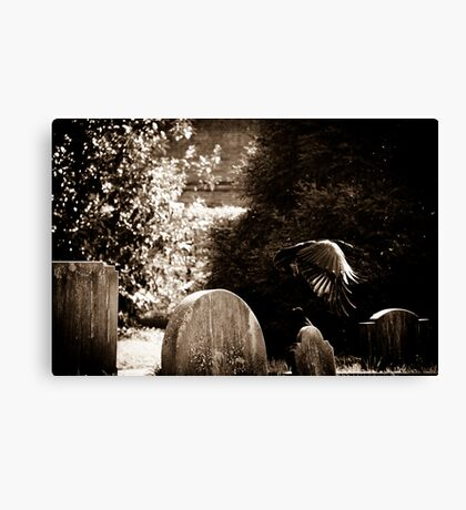 When the patient, shining with pain... Canvas Print