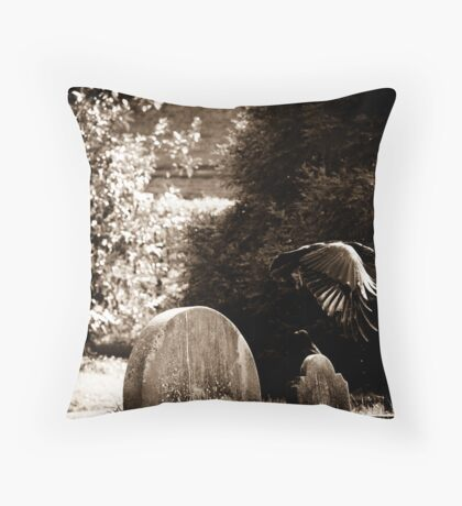 When the patient, shining with pain... Throw Pillow