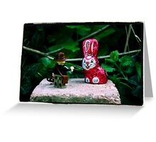 Indiana Jones and the Metal Pink Easter Bunny Greeting Card