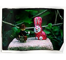 Indiana Jones and the Metal Pink Easter Bunny Poster