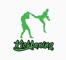 Kickboxing Man Jumping Back Kick Green  Unisex T-Shirt