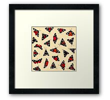 Scarlet Tigers - Pale Framed Print