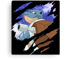 pokemon blastoise anime manga shirt Canvas Print