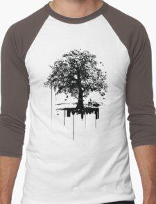 Silent tree covering noise city  Men's Baseball ¾ T-Shirt