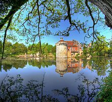 Old Scotney Castle on the Lake by Guy Carpenter