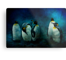 Cold Penguins Metal Print