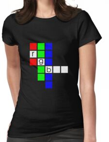 Color Architecture: RGB Womens Fitted T-Shirt