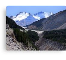 Columbia Icefield and Athabaska River Canvas Print