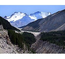 Columbia Icefield and Athabaska River Photographic Print