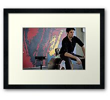Look at the wall Framed Print