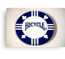Pick Another Suit - Blue Poker Chip Canvas Print
