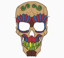 Candy Day Of The Dead Skull Kids Tee