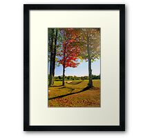 Lazy Autumn Afternoon, New England Framed Print