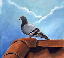 Pigeon on Roof by Anton Van Dort