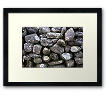 The Dry Stone Wall Framed Print