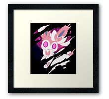 pokemon eevee sylveon anime manga shirt Framed Print