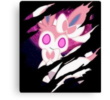 pokemon eevee sylveon anime manga shirt Canvas Print