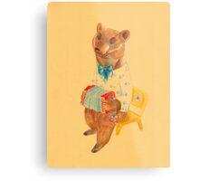Bear with Charming Harmony Metal Print