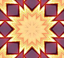 Sunset Star,kaleidoscope by MaeBelle
