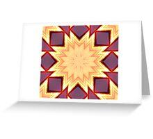 Sunset Star,kaleidoscope Greeting Card