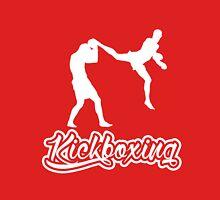 Kickboxing Man Jumping Back Kick White  T-Shirt