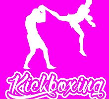 Kickboxing Man Jumping Back Kick White  by yin888