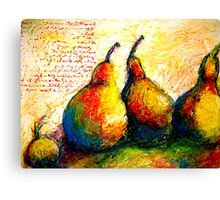Pear Journal Page 5 Canvas Print