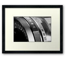 Vintage Camea Lens Framed Print