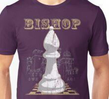 Chess Mate: White Bishop Unisex T-Shirt