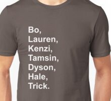 Lost Girl Main Charcters Unisex T-Shirt