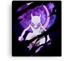 pokemon mewtwo anime manga shirt Canvas Print