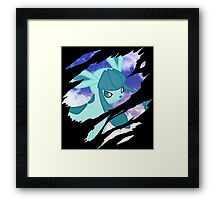 pokemon glaceon anime manga shirt Framed Print