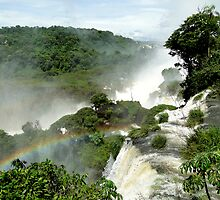 Rainbow over Iguazu by Paige