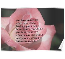 You Believed in Me Poster