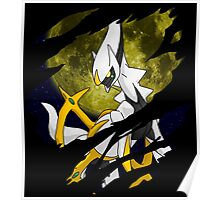 pokemon arceus anime manga shirt Poster
