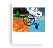 Earth,Air,Fire,Water Canvas Print