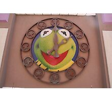 Kermit Clock - Walt Disney World Photographic Print