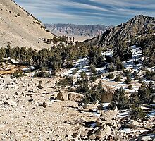 """""""Jill's"""" slide area on trail to crest of Kearsarge Pass by Jean  Atwood"""