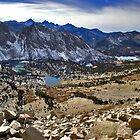 From top of Kearsarge Pass looking into Kings Canyon by Jean  Atwood