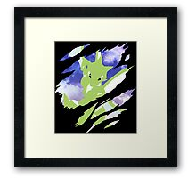 pokemon scyther anime manga shirt Framed Print