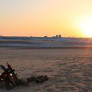 White Desert Sunset by waltzink