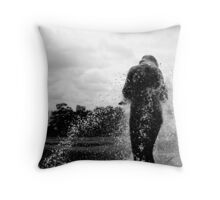 Fountain view Throw Pillow