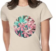 Sunny Agapanthus Flower in Pink & Teal Womens Fitted T-Shirt