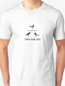 One for Sorrow- Magpies Unisex T-Shirt